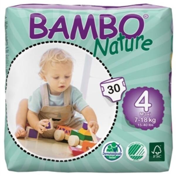 Bambo 北欧高端天然婴儿尿片 4码 可适用最大尺寸 18kg 30片