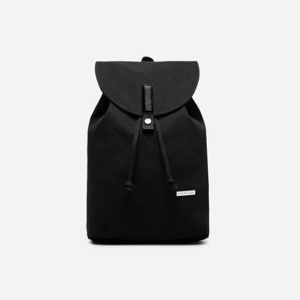 Everlane The Modern Twill Single Snap Backpack - Small-Black