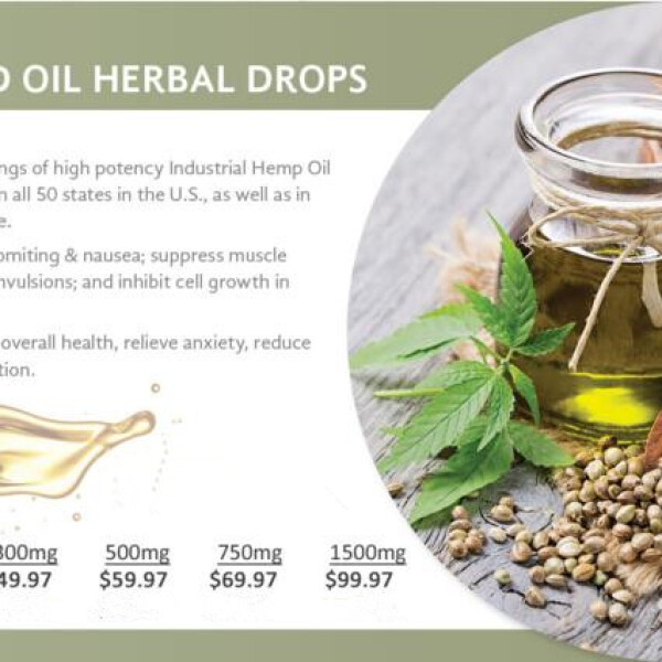 Pure Hemp CBD Oil Herbal Drops (750mg)