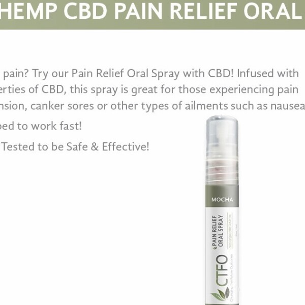 Pure Hemp CBD Pain Relief Oral Spay