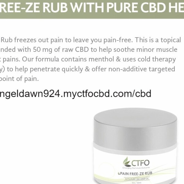 Pain Free-Ze Rub w/ Pure CBD Hemp Oil