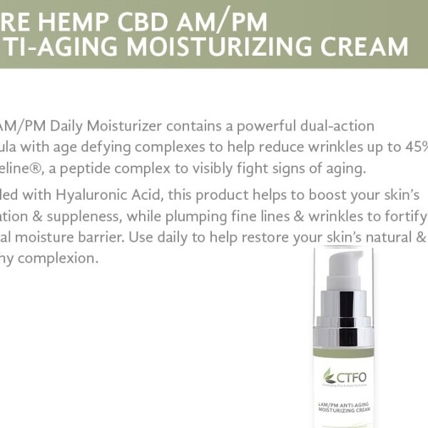 Pure Hemp CBD AM/PM Anti-Aging Moisturizing Cream
