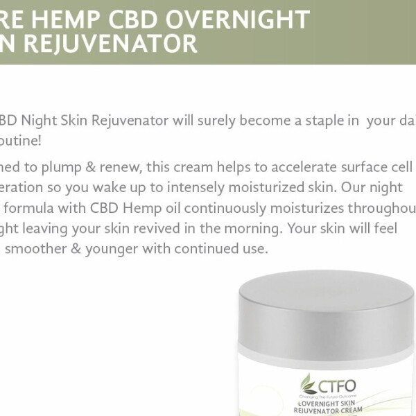 Pure Hemp CBD Overnight Skin Rejuvenator