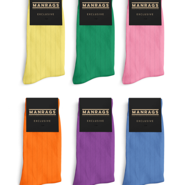 澳洲 MANRAGS socks MR Exclusive Colour Block contains 6 limited edition