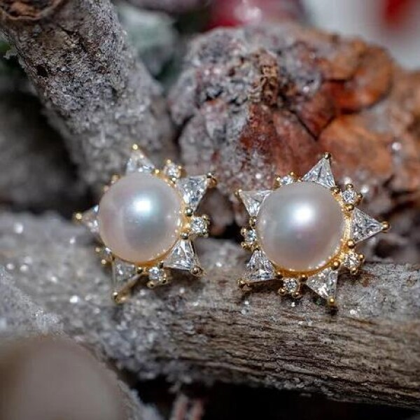 圣诞雪花耳环 小众轻奢  澳洲珠宝品牌 Studio Glamor 珍珠系列
