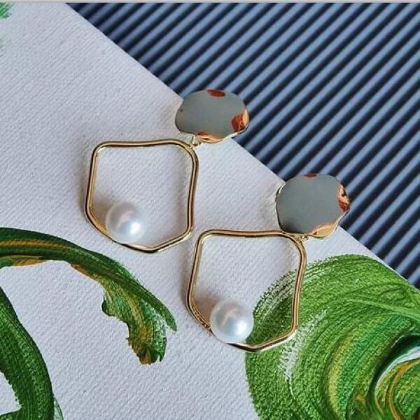 Phoebe耳环 月亮女神耳环 钛钢搭配珍珠 百搭小轻奢 澳洲珠宝品牌Studio Glamor
