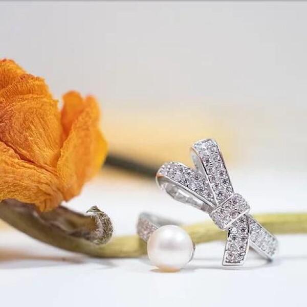 Alva 戒指 珍珠戒指 蝴蝶结 搭配饰品 简约大气 澳洲品牌 Studio Glamor