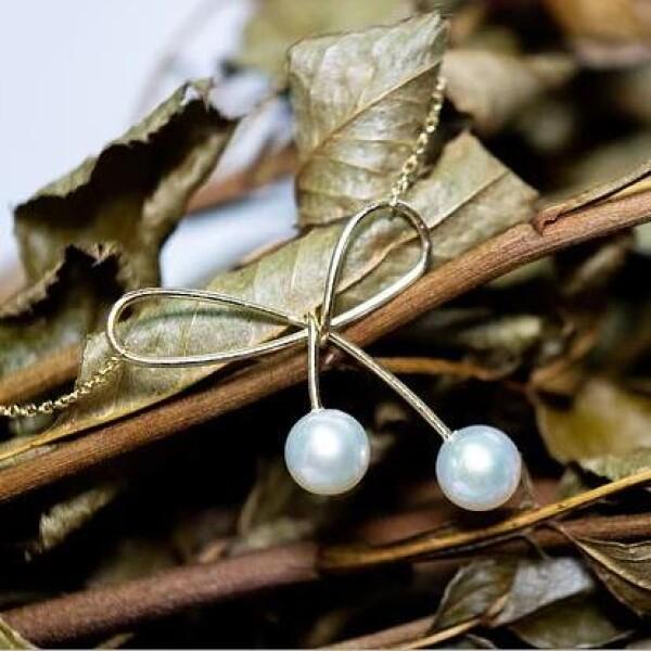 双珍珠蝴蝶结项链 可爱款首饰 配饰 休闲穿搭 澳洲品牌