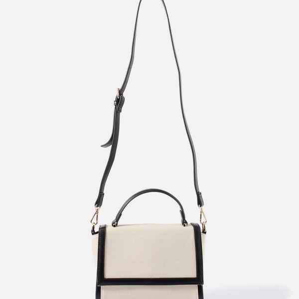 潮流时尚包边布纹斜跨单肩包 日本时尚品牌AZUL by moussy パイピングキャンバスショルダーバッグ