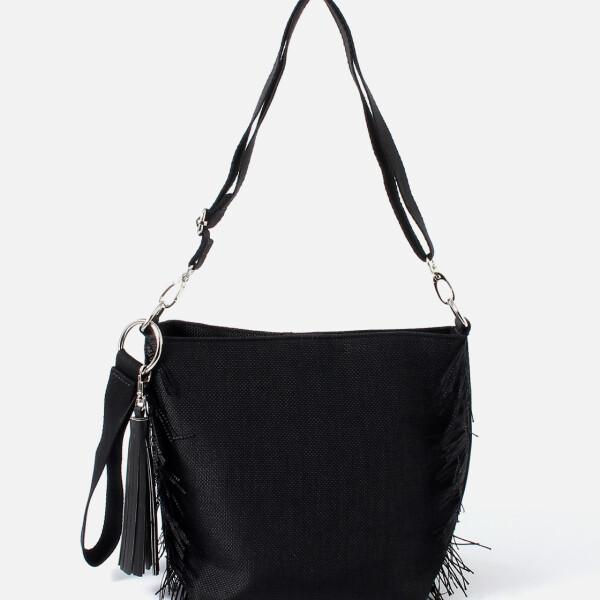 日本时尚品牌AZUL by moussy 休闲潮女流苏边缘水桶包 FRINGE BUCKET BAG
